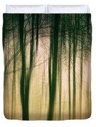 Trees At Dawn Duvet Cover