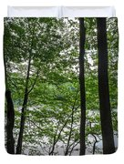 Trees At Lake Schlachtensee Duvet Cover