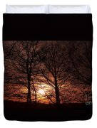 Trees At Sunset Duvet Cover