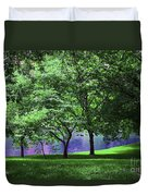 Trees By A Pond Duvet Cover