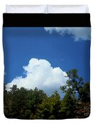 Trees, Clouds, And Sky Duvet Cover