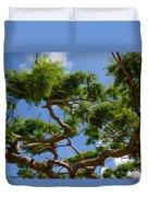 Trees In Bermuda Duvet Cover