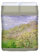 Trees In Blossom Duvet Cover