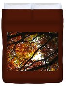 Trees In Fall Fashion Duvet Cover