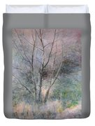 Trees In Light Duvet Cover