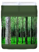 Trees In Rows Duvet Cover by Julian Perry