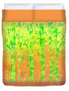 Trees In The Grass Duvet Cover