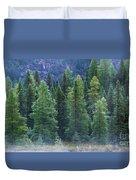 Trees In The Mist Duvet Cover