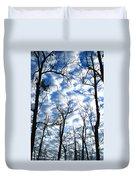 Trees In The Sky Duvet Cover