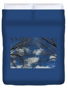Trees In The Spring With Clouds Duvet Cover
