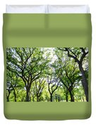 Trees Of Central Park, Nyc Duvet Cover