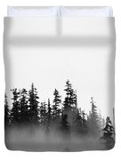 Trees On A Hill  Duvet Cover