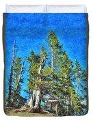 Trees On The Edge 2 Duvet Cover