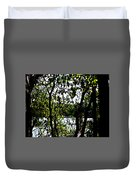 Trees Over Looking Water Duvet Cover