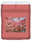 Trees Pink Spring Dogwood Flowers Baslee Troutman Duvet Cover