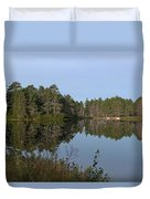 Trees Reflecting Duvet Cover