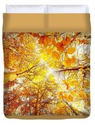 Trees Toward The Sun Duvet Cover