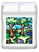 Trees W Water Ddl Duvet Cover