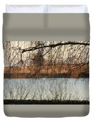 Trees With A Reflection Duvet Cover