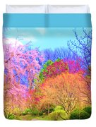 Trees With Color Duvet Cover