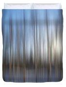 trees Alaska blue abstract Duvet Cover