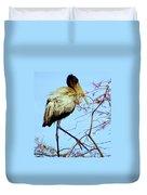 Treetop Stork Duvet Cover