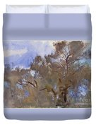 Treetops Against Sky Duvet Cover