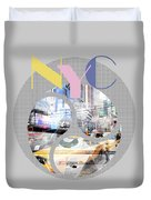Trendy Design New York City Geometric Mix No 1 Duvet Cover by Melanie Viola