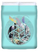 Trendy Design New York City Geometric Mix No 4 Duvet Cover by Melanie Viola