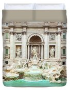 Trevi Fountain, Fontana Di Trevi, After The Restoration Of 2015  Duvet Cover