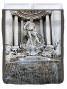 Trevi Fountain Rome Duvet Cover