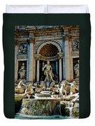 Trevi Fountain Vertical  Duvet Cover