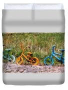 Tri Bike Duvet Cover