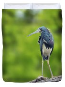Tri-color Heron Duvet Cover