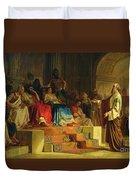 Trial Of The Apostle Paul Duvet Cover