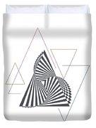 Triangle Op Art Duvet Cover