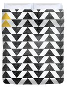 Triangle - Yellow II Duvet Cover