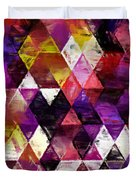 Triangles Impressionism Duvet Cover