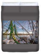 Triangles In The Harbor Duvet Cover