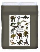 Triassic Dinosaurs Duvet Cover