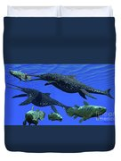Triassic Shonisaurus Marine Reptile Duvet Cover