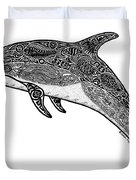 Tribal Dolphin Duvet Cover by Carol Lynne