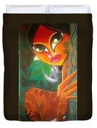 Tribal Lady Duvet Cover