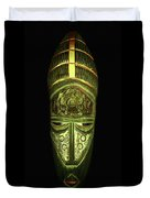 Tribal Mask Duvet Cover by David Dehner