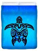 Tribal Turtle Hibiscus Duvet Cover