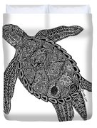 Tribal Turtle I Duvet Cover