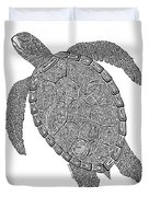 Tribal Turtle II Duvet Cover