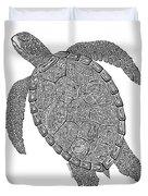 Tribal Turtle II Duvet Cover