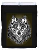 Tribal Wolf Duvet Cover