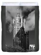 Tribune Tower 435 North Michigan Avenue Chicago Duvet Cover